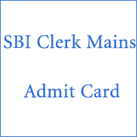 SBI Clerk Mains Admit Card copy