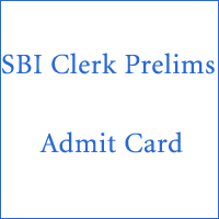 SBI Clerk Prelims Admit Card copy