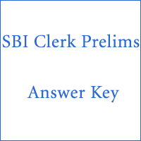 SBI Clerk Prelims Answer Key copy