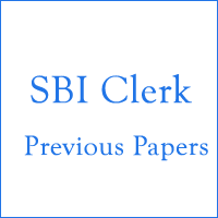 SBI Clerk Previous Papers