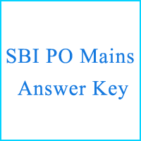 SBI PO Mains Answer Key