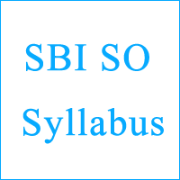 SBI SO Syllabus copy