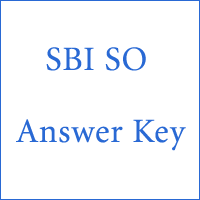 SBI SO Answer Key