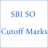 SBI so Cut Off Marks